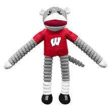 Load image into Gallery viewer, University of Wisconsin Team Sock Monkey Pet Toy