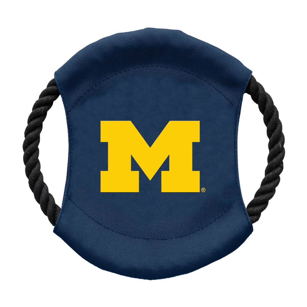 University of Michigan Team Flying Disc Pet Toy