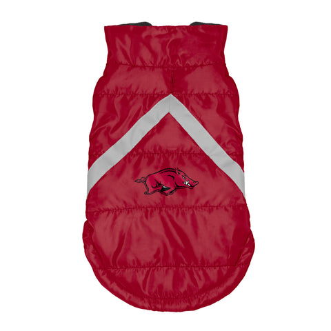 Arkansas Razorbacks Pet Puffer Vest