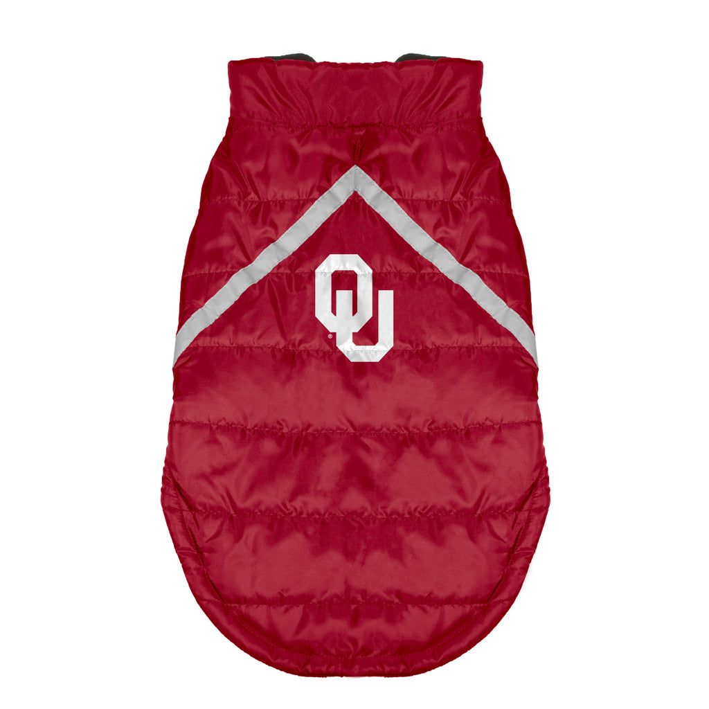 University of Oklahoma Pet Puffer Vest