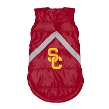 Load image into Gallery viewer, University of Southern California Pet Puffer Vest