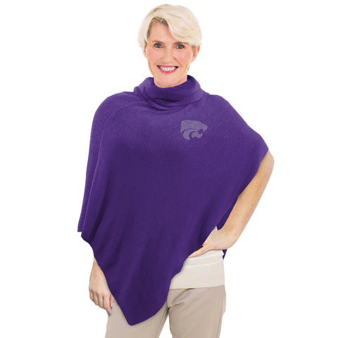 Kansas State University Crystal Knit Poncho