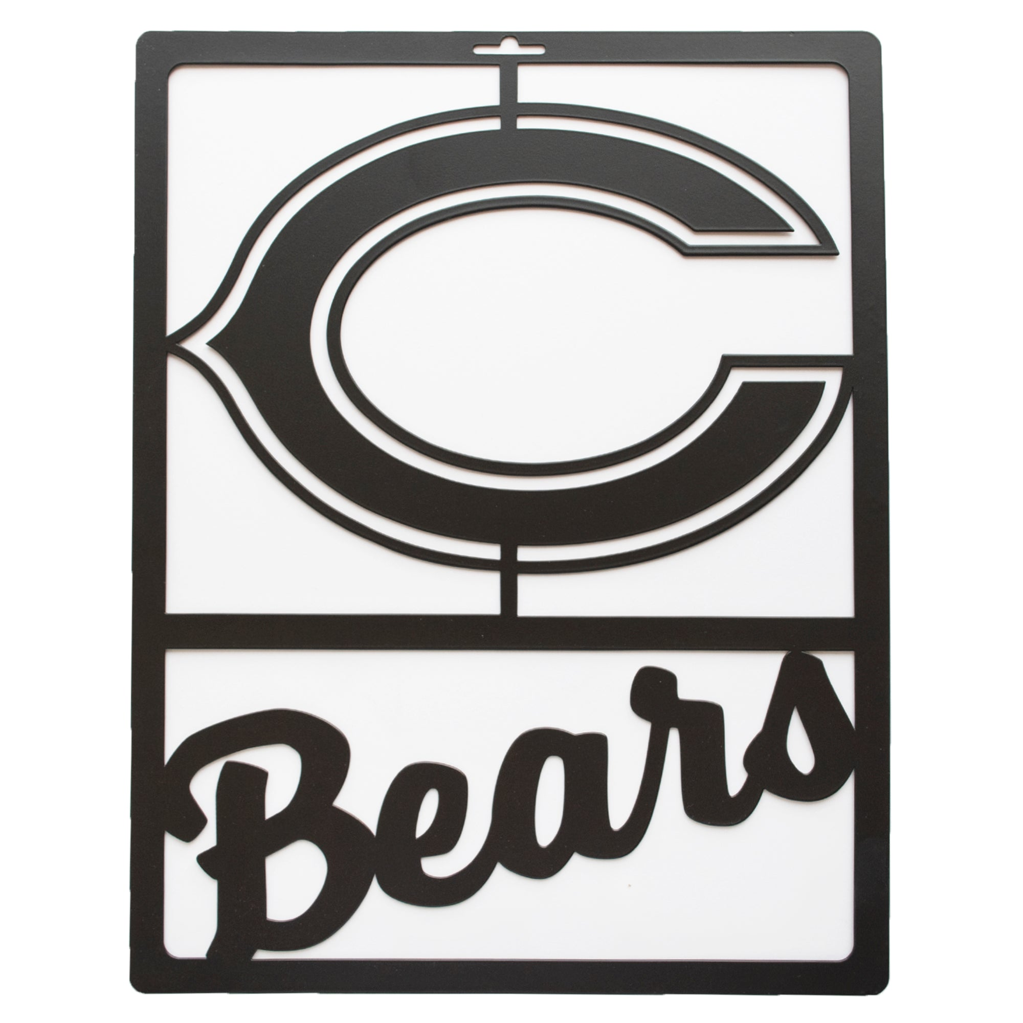 Chicago Bears Metal Team Sign
