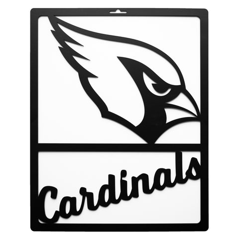 Arizona Cardinals Metal Team Sign