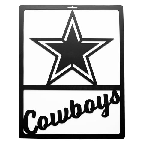 Dallas Cowboys Metal Team Sign