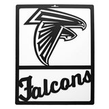 Atlanta Falcons Metal Team Sign