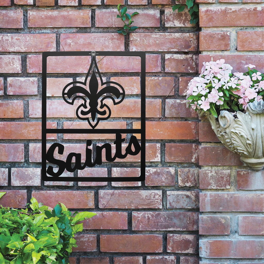 New Orleans Saints Metal Team Sign
