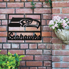 Load image into Gallery viewer, Seattle Seahawks Metal Team Sign