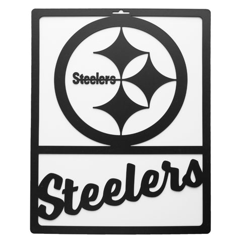 Pittsburgh Steelers Metal Team Sign