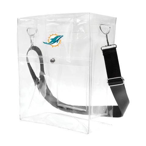 Miami Dolphins Clear Ticket Satchel