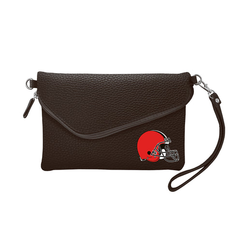 Cleveland Browns Fold Over Crossbody Pebble