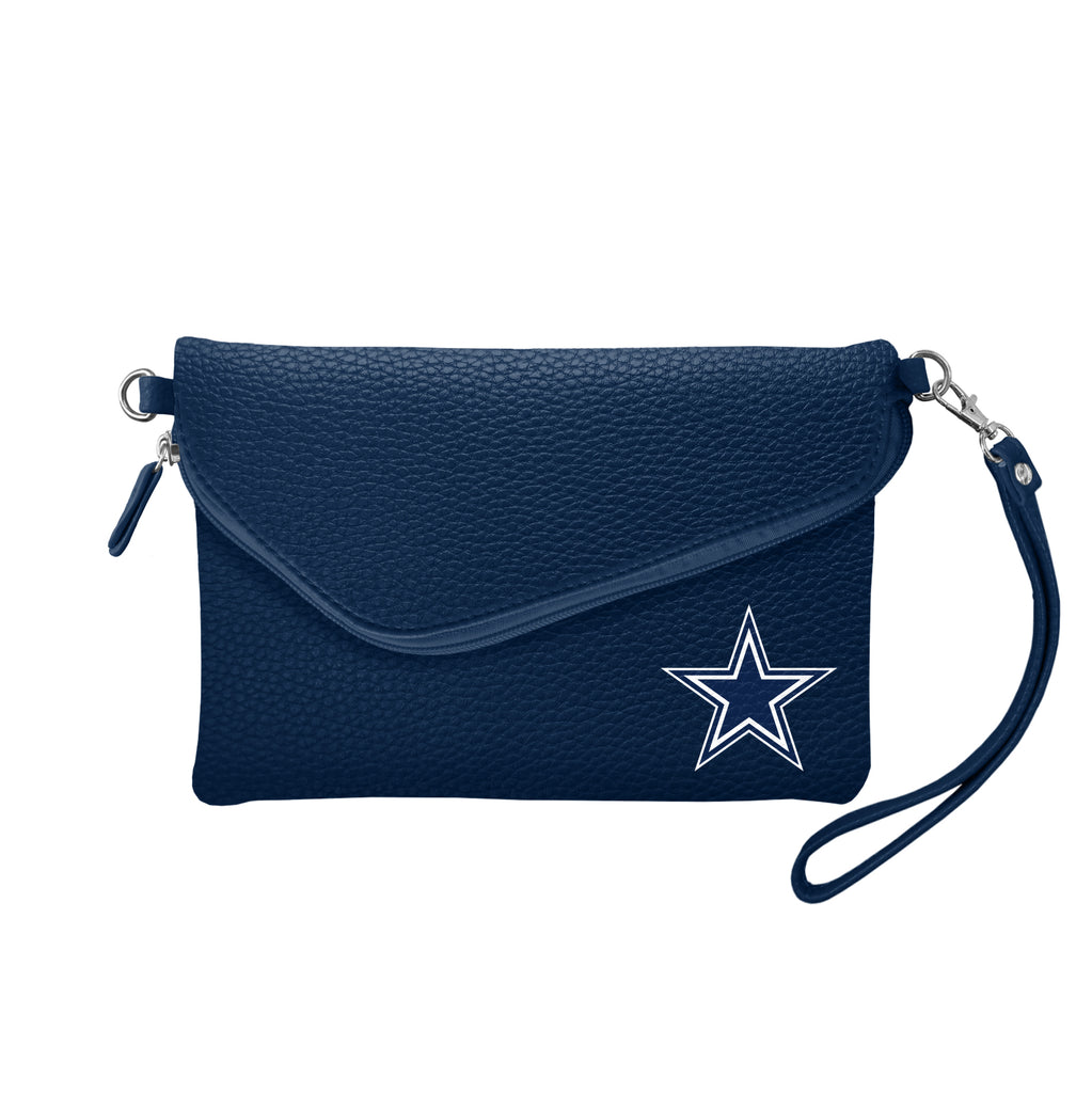 Dallas Cowboys Fold Over Crossbody Pebble
