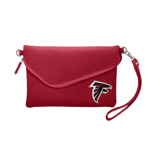 Atlanta Falcons Fold Over Crossbody Pebble