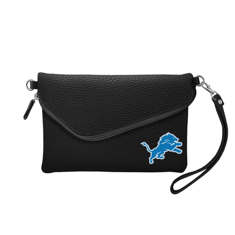 Detroit Lions Fold Over Crossbody Pebble