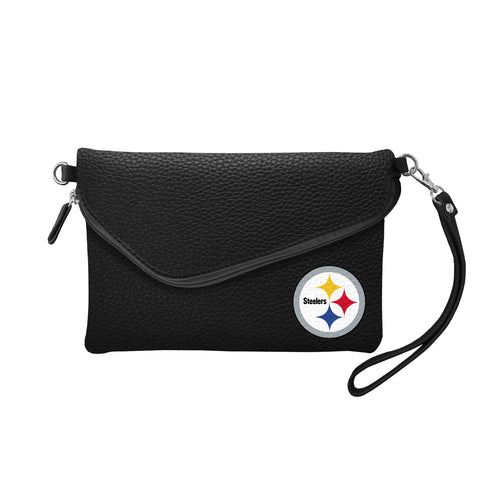 Pittsburgh Steelers Fold Over Crossbody Pebble