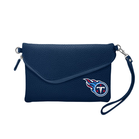 Tennessee Titans Fold Over Crossbody Pebble