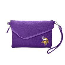 Load image into Gallery viewer, Minnesota Vikings Fold Over Crossbody Pebble