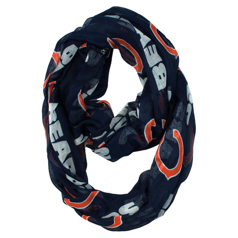 Chicago Bears Sheer Infinity Scarf