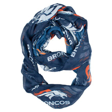 Load image into Gallery viewer, Denver Broncos Sheer Infinity Scarf Alternate