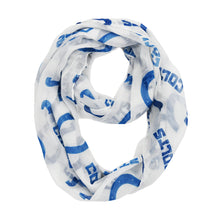 Load image into Gallery viewer, Indianapolis Colts Sheer Infinity Scarf Alternate