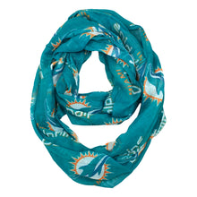Load image into Gallery viewer, Miami Dolphins Sheer Infinity Scarf