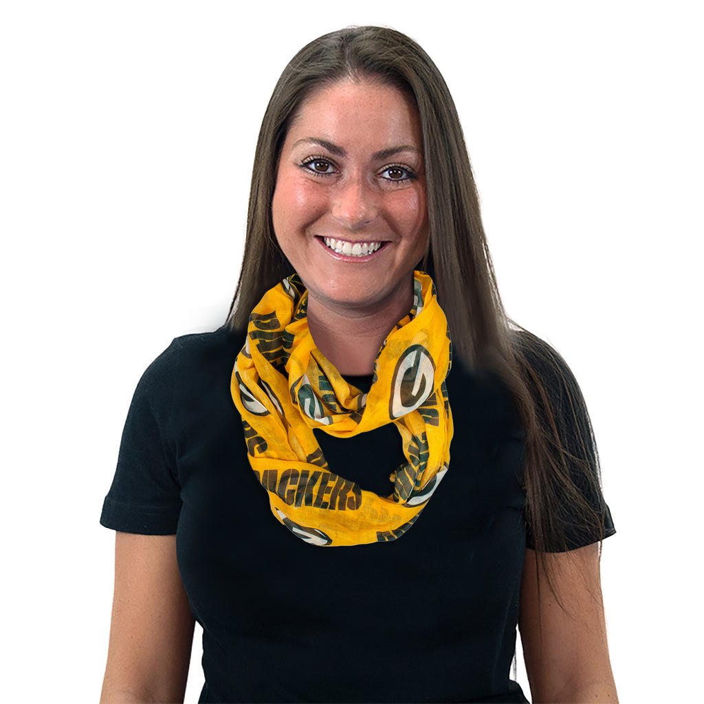 Green Bay Packers Sheer Infinity Scarf Alternate