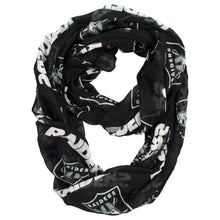 Load image into Gallery viewer, Oakland Raiders Sheer Infinity Scarf