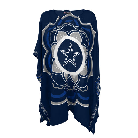 Dallas Cowboys Peace Flower Caftan