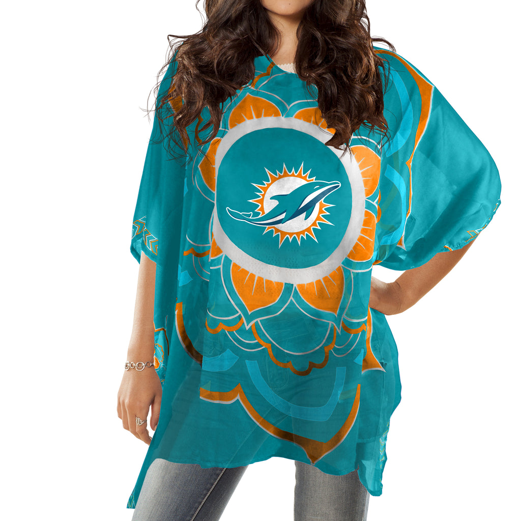 Miami Dolphins Caftan Flower