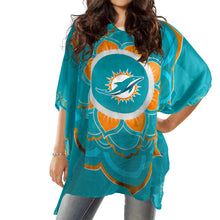 Load image into Gallery viewer, Miami Dolphins Caftan Flower