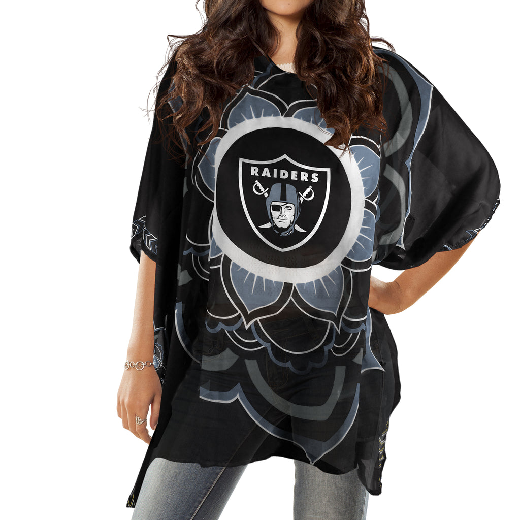Oakland Raiders Caftan Flower