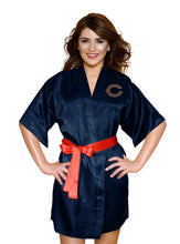 Load image into Gallery viewer, Chicago Bears Satin Kimono