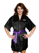 Load image into Gallery viewer, Baltimore Ravens Satin Kimono