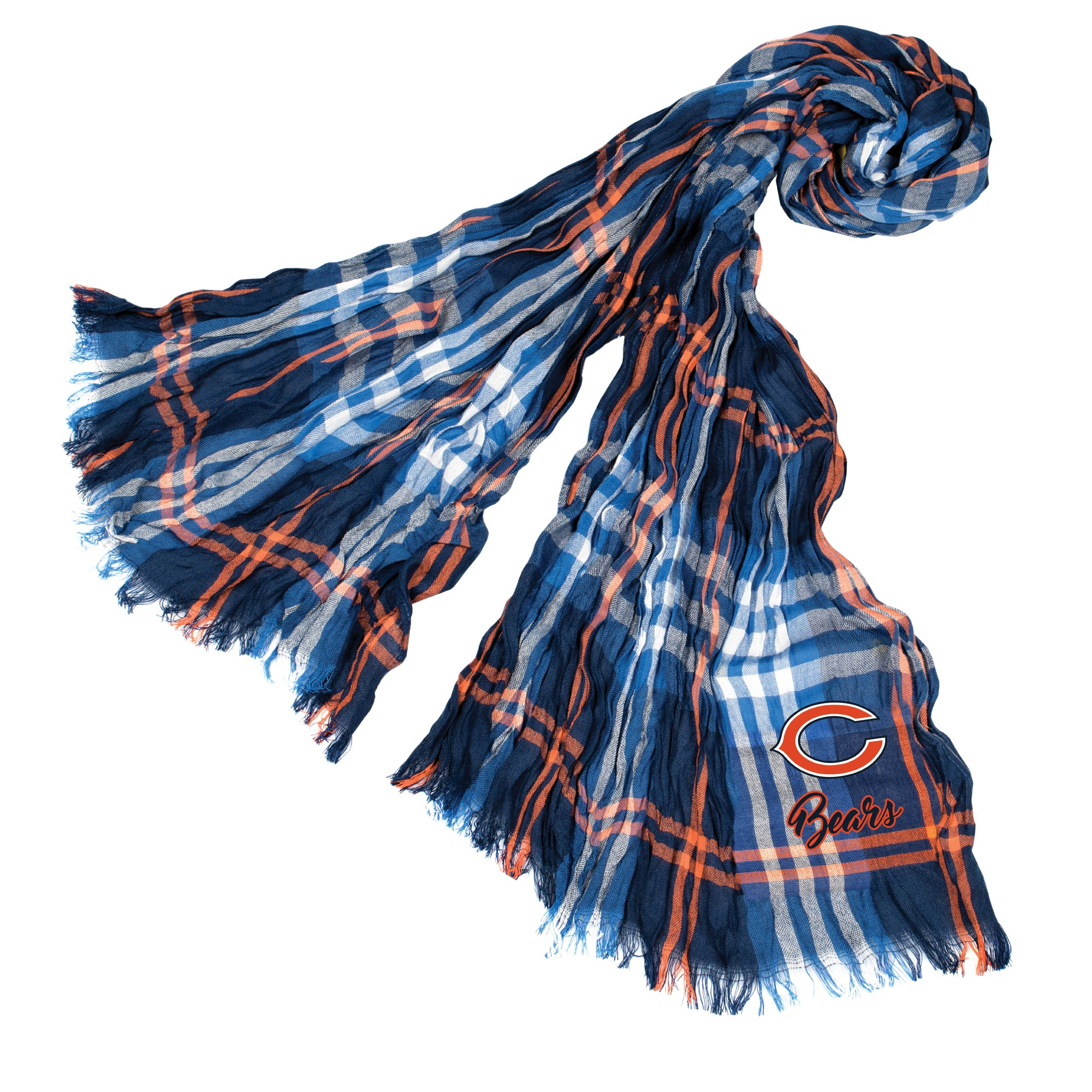 Chicago Bears Crinkle Scarf Plaid