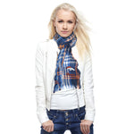 Denver Broncos Crinkle Scarf Plaid