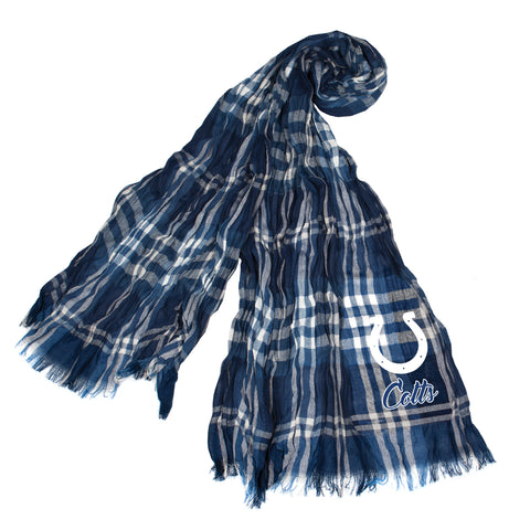 Indianapolis Colts Crinkle Scarf Plaid