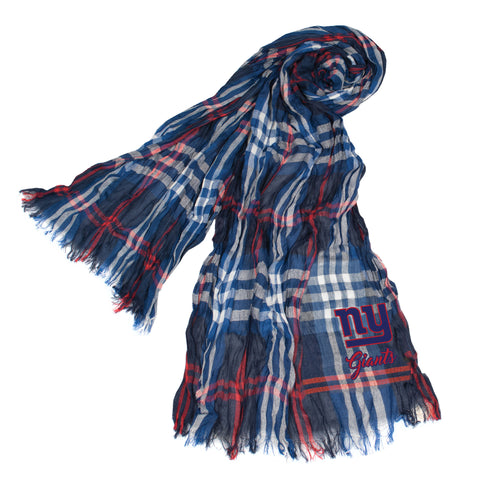 New York Giants Crinkle Scarf Plaid