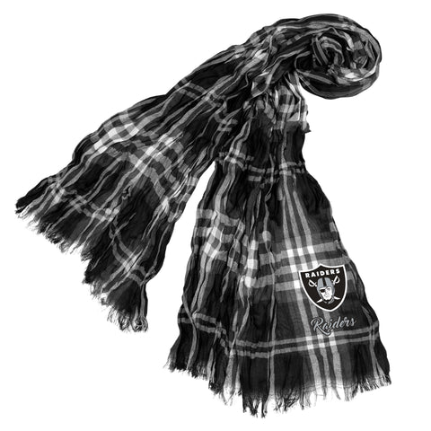 Oakland Raiders Crinkle Scarf Plaid
