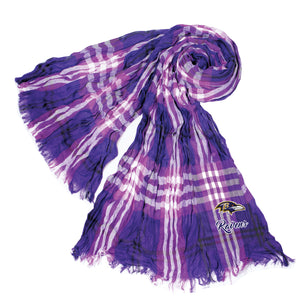 Baltimore Ravens Crinkle Scarf Plaid