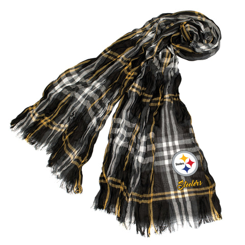 Pittsburgh Steelers Crinkle Scarf Plaid