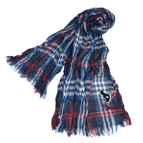 Houston Texans Crinkle Scarf Plaid