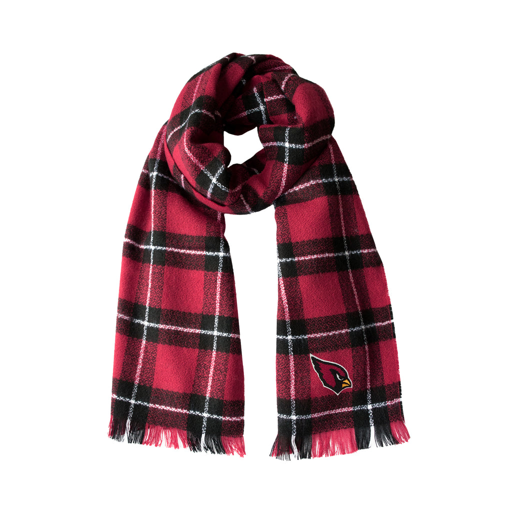 Arizona Cardinals Plaid Blanket Scarf