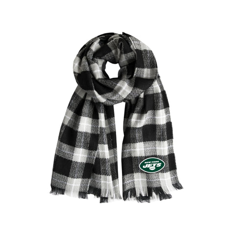 New York Jets Plaid Blanket Scarf