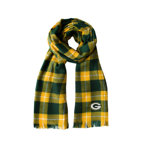Green Bay Packers Plaid Blanket Scarf