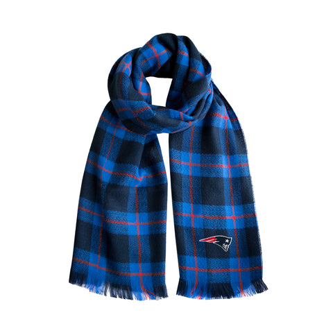 New England Patriots Plaid Blanket Scarf