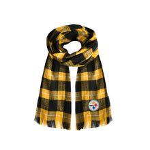Load image into Gallery viewer, Pittsburgh Steelers Plaid Blanket Scarf