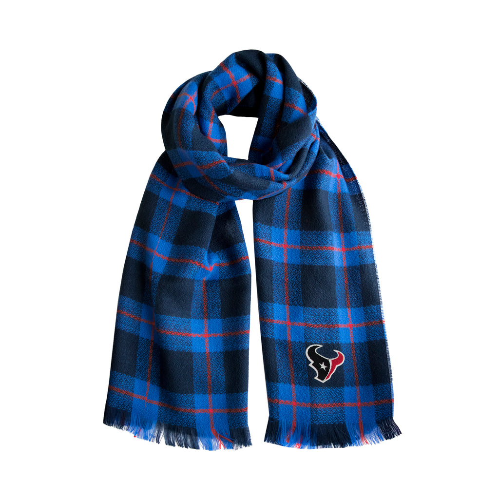 Houston Texans Plaid Blanket Scarf