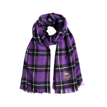 Load image into Gallery viewer, Minnesota Vikings Plaid Blanket Scarf