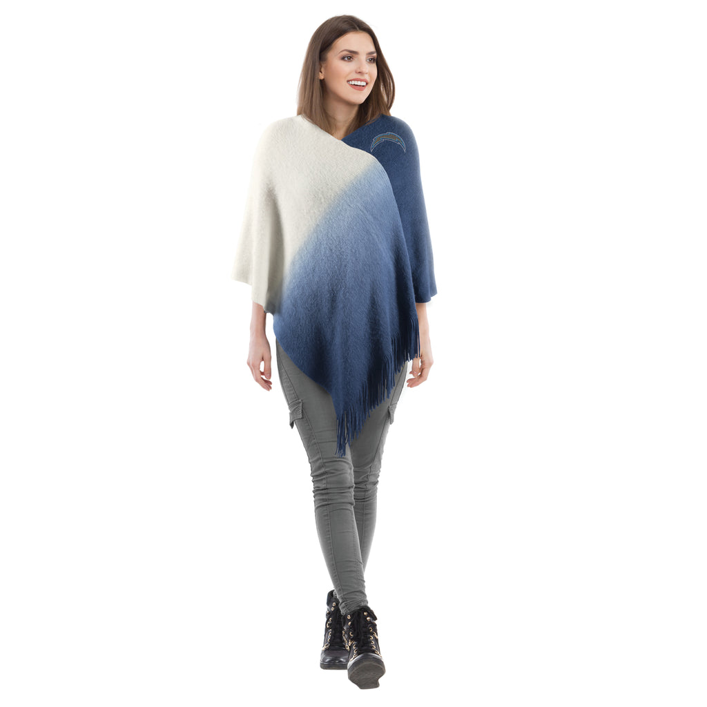 Los Angeles Chargers Dip Dye Poncho