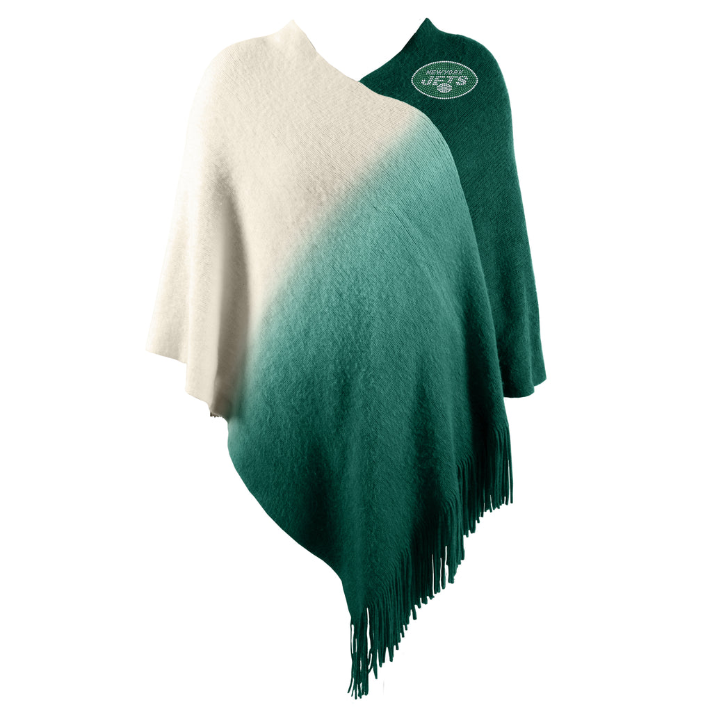 New York Jets Dip Dye Poncho